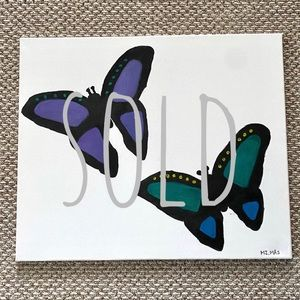 Canvas Acrylic Minimalistic Butterly Painting